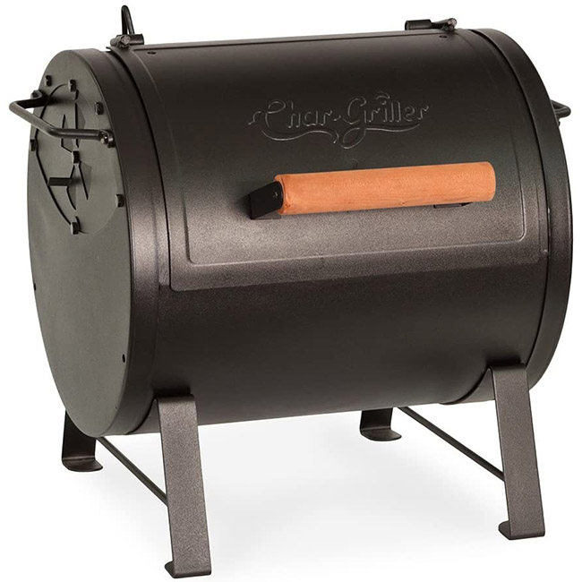 Char-Griller Table-top Charcoal Grill and Side Fire Box