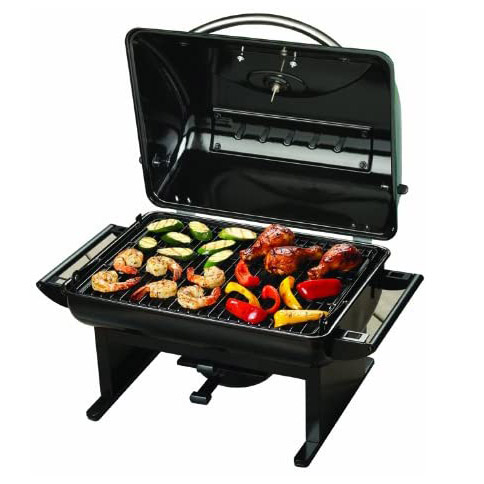 Grilling meats and vegetables on the uisinart CCG-100 Charcoal Grill