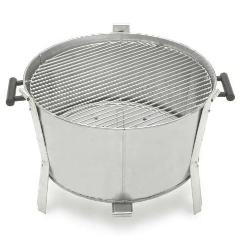A Simple, clear metal, Old Smokey Charcoal Grill
