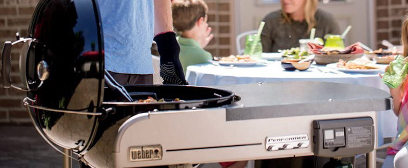 Weber Performer Deluxe Charcoal Grill Open