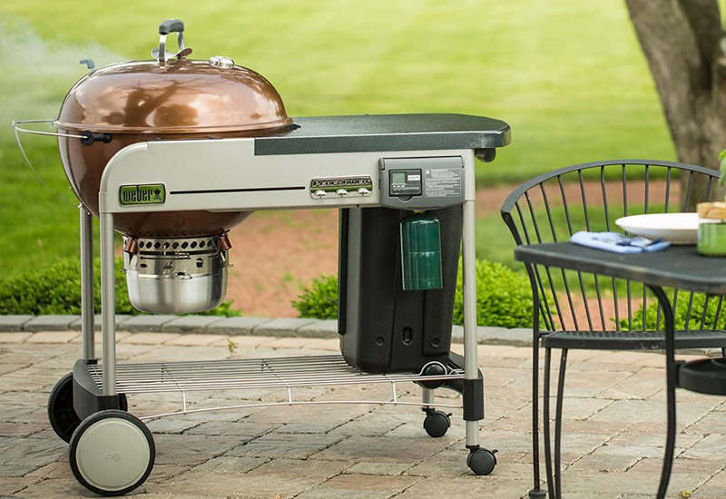 Weber Performer Deluxe Charcoal Grill Outdoors
